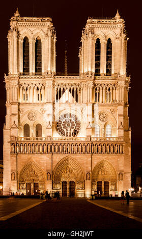 Notre Dame Cathedral Paris France - Stock Image