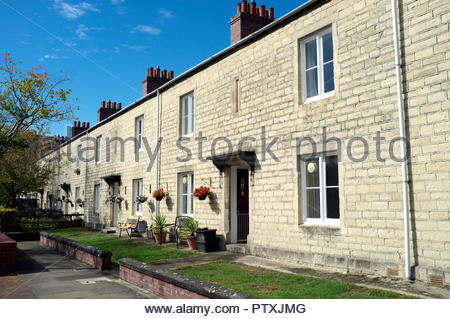 Swindon - residential properties in the area known as the 'Railway Village', housing to accommodate workers from the former railway works in the town. - Stock Image