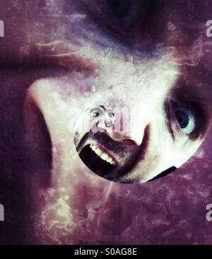 Monstrous selfie - Stock Image