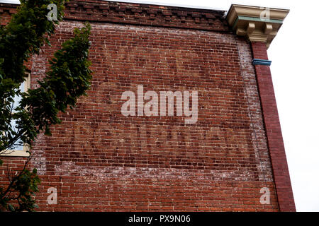 USA Maryland MD Baltimore Fells Point an old painted sign that read VOTE AGAINST PROHIBITION from the early 1900s - Stock Image