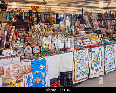 Shop Selling Souviners Pompeii Campania Italy - Stock Image