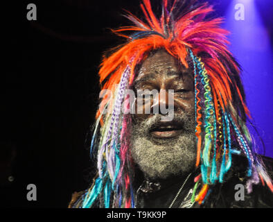 George Clinton and Parliament-Funkadelic performing live - Stock Image