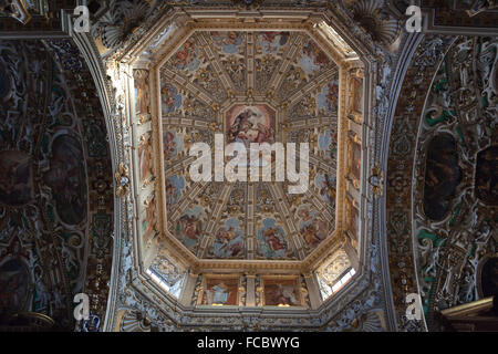 Dome of the Basilica di Santa Maria Maggiore in Bergamo, Lombardy, Italy. - Stock Image