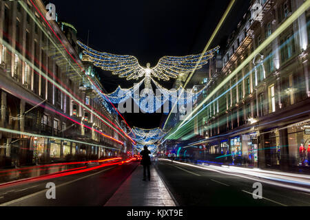 Christmas Lights and Decorations in Regent Street - Stock Image