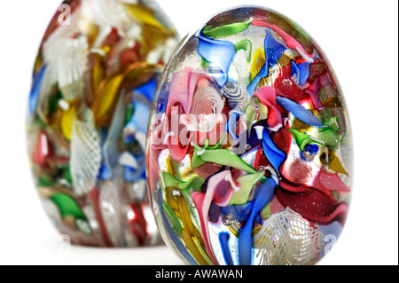 Old Vintage Scrambled Millefiori Glass Paperweights EDITORIAL USE ONLY - Stock Image