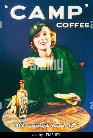 A World War 2 advertisement for Camp Coffee - Stock Image