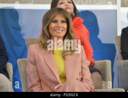 First Lady of the United States Melania Trump attends the Secretary of State's 2018 International Women of Courage Award Ceremony at the U.S. Department of State in Washington, D.C. on March 23, 2018. - Stock Image