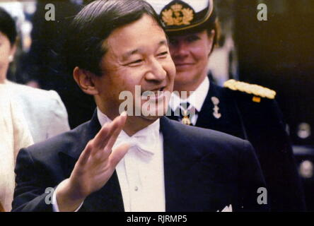 Naruhito, Crown Prince of Japan (born 1960), elder son of Emperor Akihito and Empress Michiko, which makes him the heir apparent to the Chrysanthemum Throne. Naruhito is expected to succeed his father as Emperor upon the latter's abdication on 30 April 2019. - Stock Image