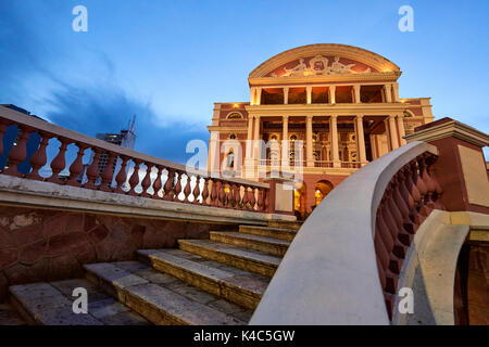 Teatro Amazonas in Manaus, Brazil. The famous opera house was built by Europeans. - Stock Image