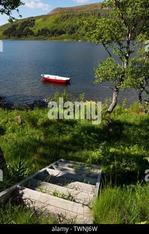 Storvatnet lake near Bleik, Andoya, Vesteralen, Norway - Stock Image