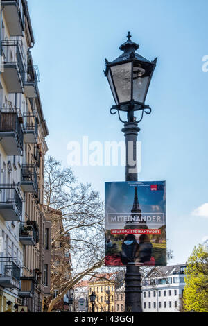 Berlin. Election poster, European Elections 23-26 May 2019, SDP poster says Europe is the Answer - Stock Image