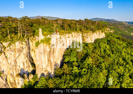 Crni Kal Castle of San Sergio in Slovenia - Stock Image