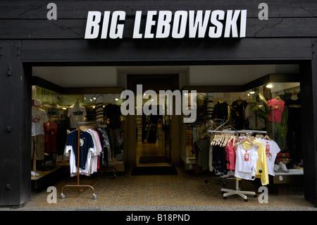 big lebowski fashion store goslar harz germany shopping consumerism american movie travel tourism - Stock Image