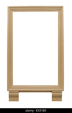 Sandstone picture frame a chisseled or hand carved architectural feature. - Stock Image