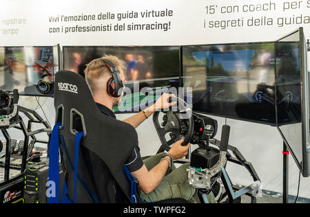 Turin, Piedmont, Italy. 22nd June 2019. Italy Piedmont Turin Valentino park Auto Show 2019 - car Virtual guide Credit: Realy Easy Star/Alamy Live News Credit: Realy Easy Star/Alamy Live News - Stock Image