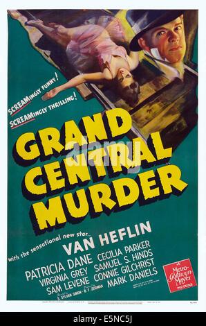 GRAND CENTRAL MURDER, US poster art, Van Heflin, 1942 - Stock Image