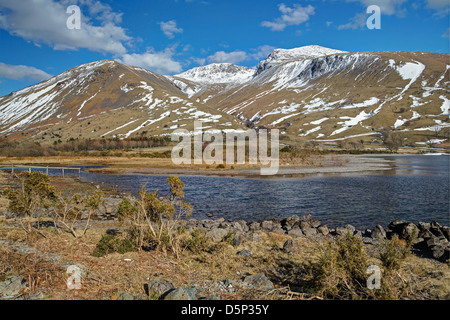 Wast Water Snows in Spring Image 1 - Stock Image
