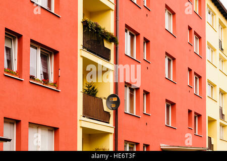 Apartment block in Gdansk, Poland - Stock Image