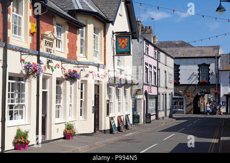 The Bold Arms Hotel in Church Street, Beaumaris, Anglesey, Wales - Stock Image