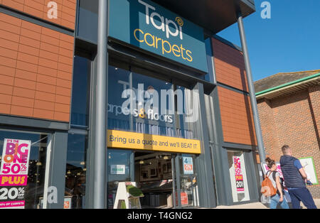 Tapi carpet store, Ladymead Retail Park, Guilford, Surrey, UK - Stock Image