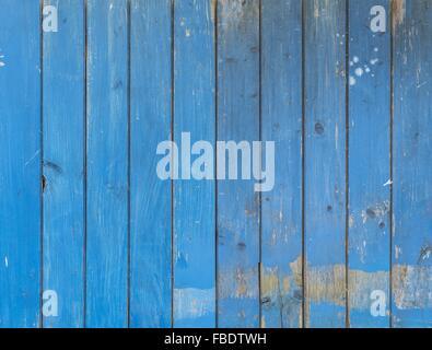 Full Frame Shot Of Blue Wooden Wall - Stock Image