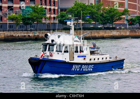 NYPD's Patrol Boat - Stock Image