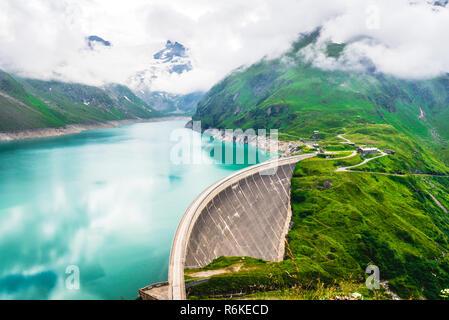 Kaprun dam located at high mountains in Austria - Stock Image