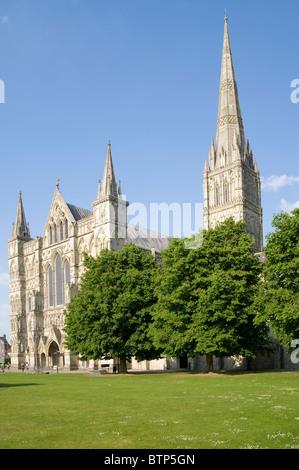 Salisbury Cathedral, Wiltshire, UK. - Stock Image