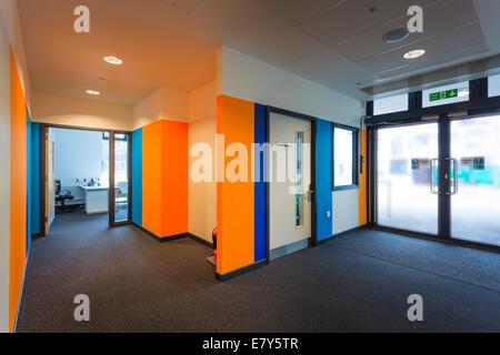 Reception area at Teddington Sixth Form College. - Stock Image