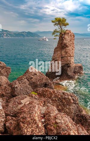 Seaview of Portofino, Italian Riviera, Liguria - Stock Image