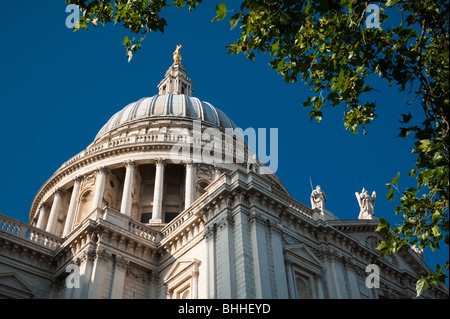 st pauls cathedral dome london - Stock Image