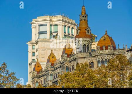 Hotels Near Placa Cataluna, Barcelona, Spain - Stock Image