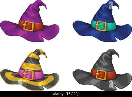 witch hats set - Stock Image