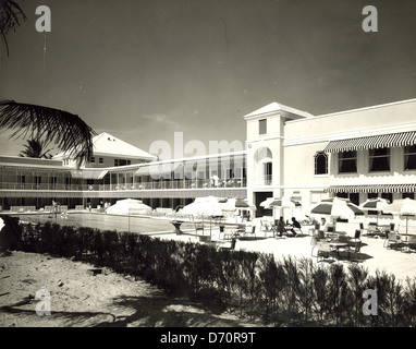 The Beach Club, Palm Beach, ca 1950 - Stock Image