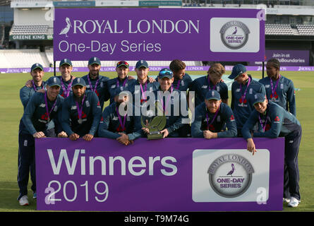 England winners of Royal London One-Day Series during the One Day International match at Emerald Headingley, Leeds. - Stock Image