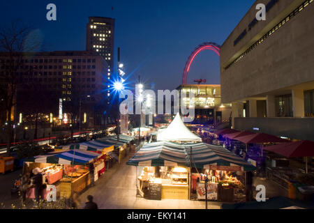 Royal Festival Hall food market, South Bank, London, UK - Stock Image