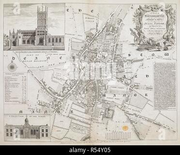A plan of Wolverhampton. A Plan of Wolverhampton. 1751. Source: Maps K.Top.38.48. Language: English. Author: Jefferys, Thomas. - Stock Image
