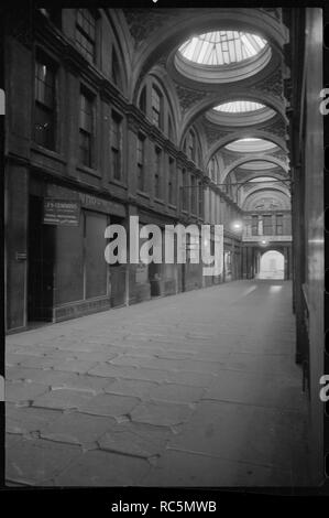 Royal Arcade, Pilgrim Street, Newcastle upon Tyne, Tyne & Wear, c1955-c1963. Interior view of the Royal Arcade which has since been demolished and replaced with a 1960s tower block. - Stock Image