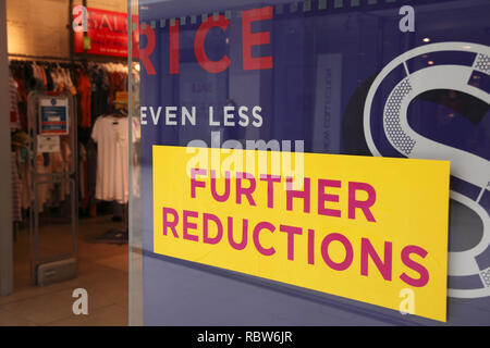 further reduction sign - Stock Image