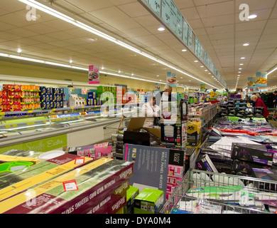 Aldi discount supermarket offers - Stock Image