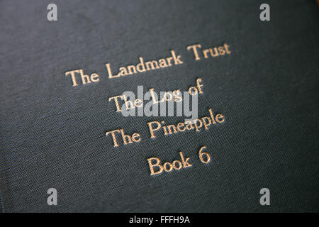 The Landmark Trust log of The Pineapple - Stock Image