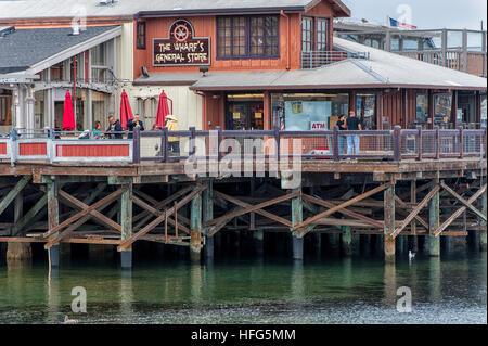 Fisherman Wharf Monterey San Francisco - Stock Image