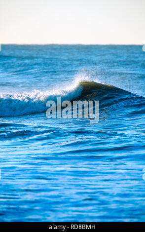 Waves in the North Sea off the coast of the Netherlands - Stock Image
