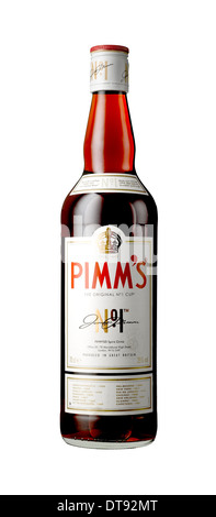A cut out shot of a bottle of Pimm's - Stock Image