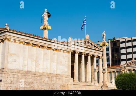 Athens, Greece. The Academy of Athens. Main building completed in 1885. - Stock Image