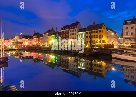 Nyhavn in Copenhagen, Denmark. - Stock Image