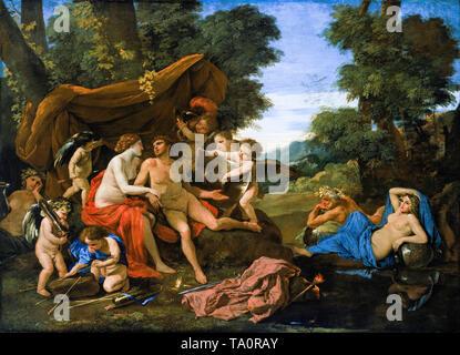 Nicolas Poussin, Mars and Venus, painting, c. 1630 - Stock Image