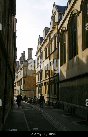 Brasenose Lane, Oxford, Oxfordshire, UK. - Stock Image