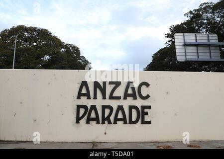 ANZAC Parade near Moore Park Road - Stock Image