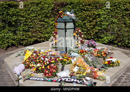 Memorial for the victims of the 1985 Bradford City fire, Bradford, West Yorkshire - Stock Image